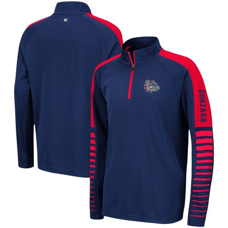 Gonzaga Bulldogs Colosseum Youth Rockzilla Raglan Quarter-Zip Pullover Jacket - Navy Gonzaga Bulldogs Jacket