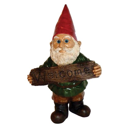Michael Carr Welcome Gnome Resin Statue