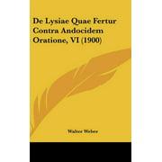 de Lysiae Quae Fertur Contra Andocidem Oratione, VI (1900)