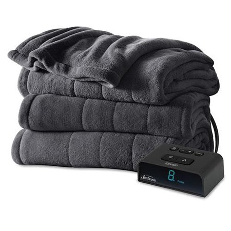 Sunbeam Channeled Microplush Electric Heated Blanket - Twin Full Queen King