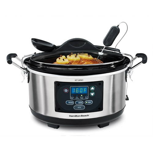 Hamilton Beach 6-Quart Portable Set 'n Forget Probe Slow Cooker, 33967