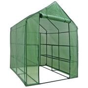 "Zenny - 57"" x 57"" x 77"" - 3-Tier 8 Shelves - Portable Mini Walk-In Greenhouse"