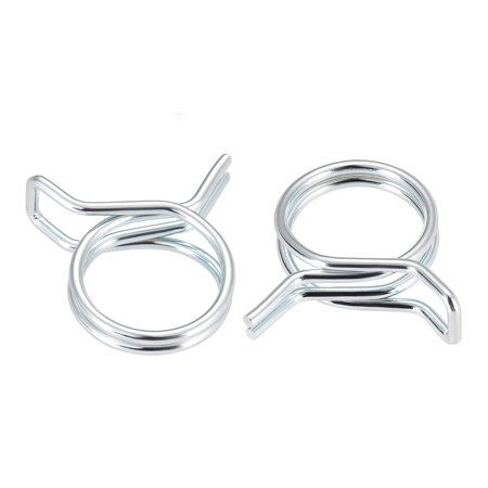 Double Wire Motorcycle ATV 16mm Fuel Line Hose Tube Spring Clips Clamp Zinc Plated 50Pcs Hose Clamp Wire Type