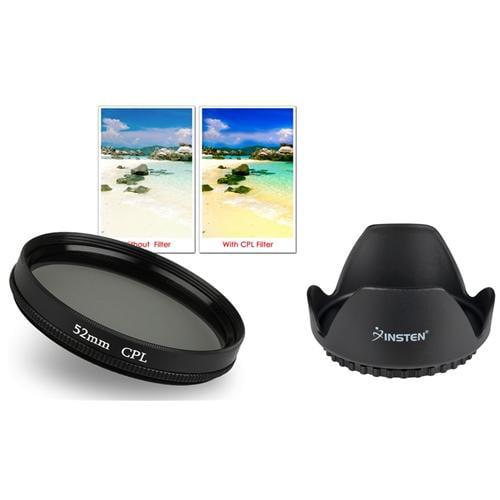 Insten 52mm Flower Lens Hood+Circular Polarizing Lens CPL Filter For Nikon D3100 D3000