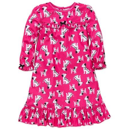 0b09047d0c Little Me - Little Me Little Girls Dalmatian Puppy Long Sleeve Nightgown  Sleepwear 3 Toddler Sleep Dress 2-4T bata de noche  camisón de las  muchachas del ...