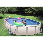 "Heritage Oval 45' x 18' x 52"" Above Ground Swimming Pool with Vinyl-Coated Frame"