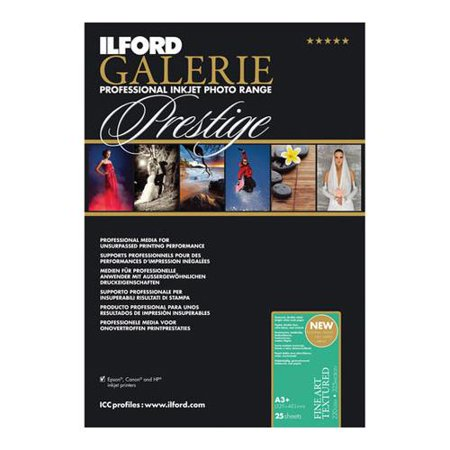 Ilford Galerie Fine Art - Ilford Galerie Prestige Fine Art Textured 25 Sheets, 13x19