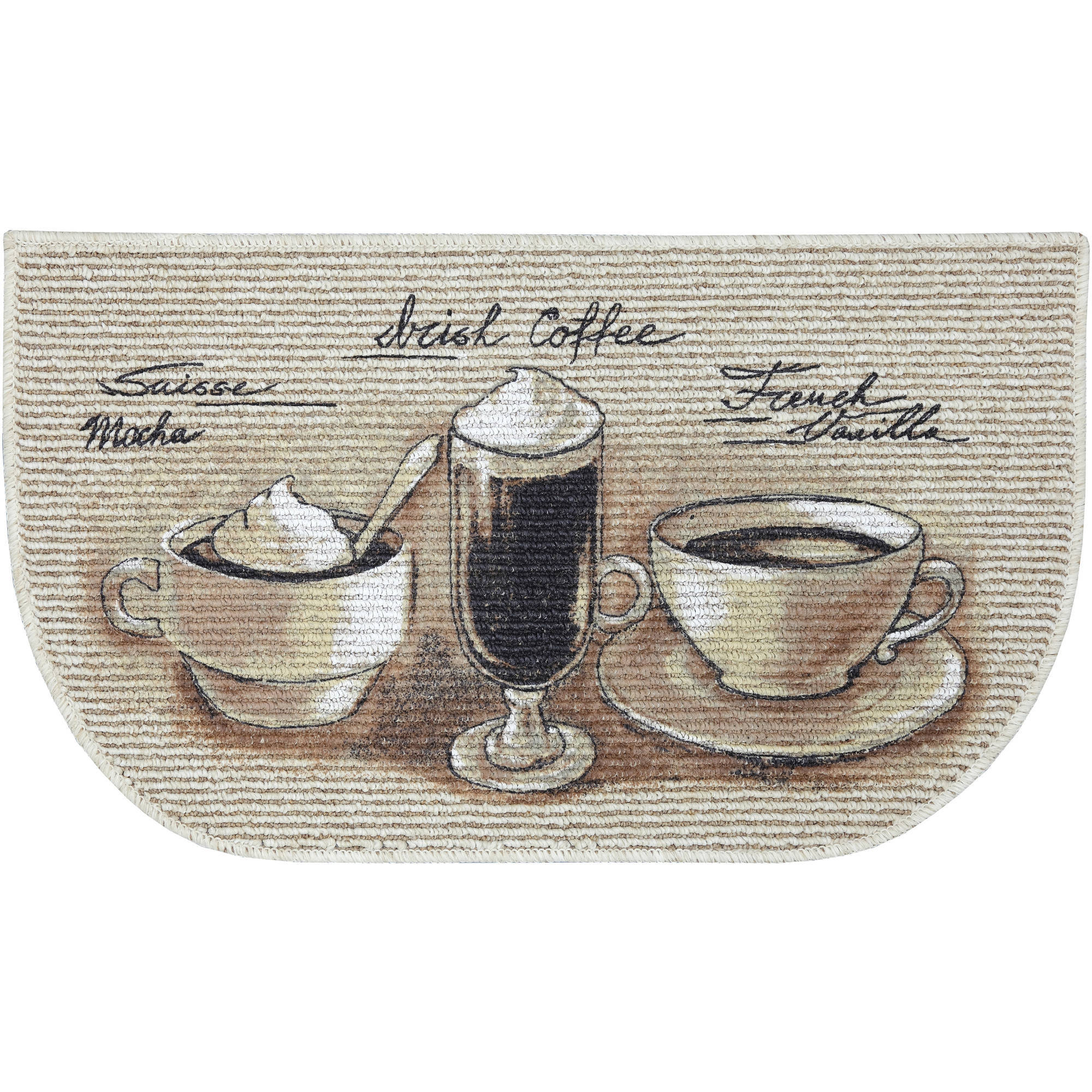 Mainstays Coffee Flavors Printed Slice Kitchen Mat