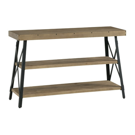 Martin Svensson Home Xavier Rustic Industrial Console - Sofa Table, Reclaimed Natural (Natural Console Table)