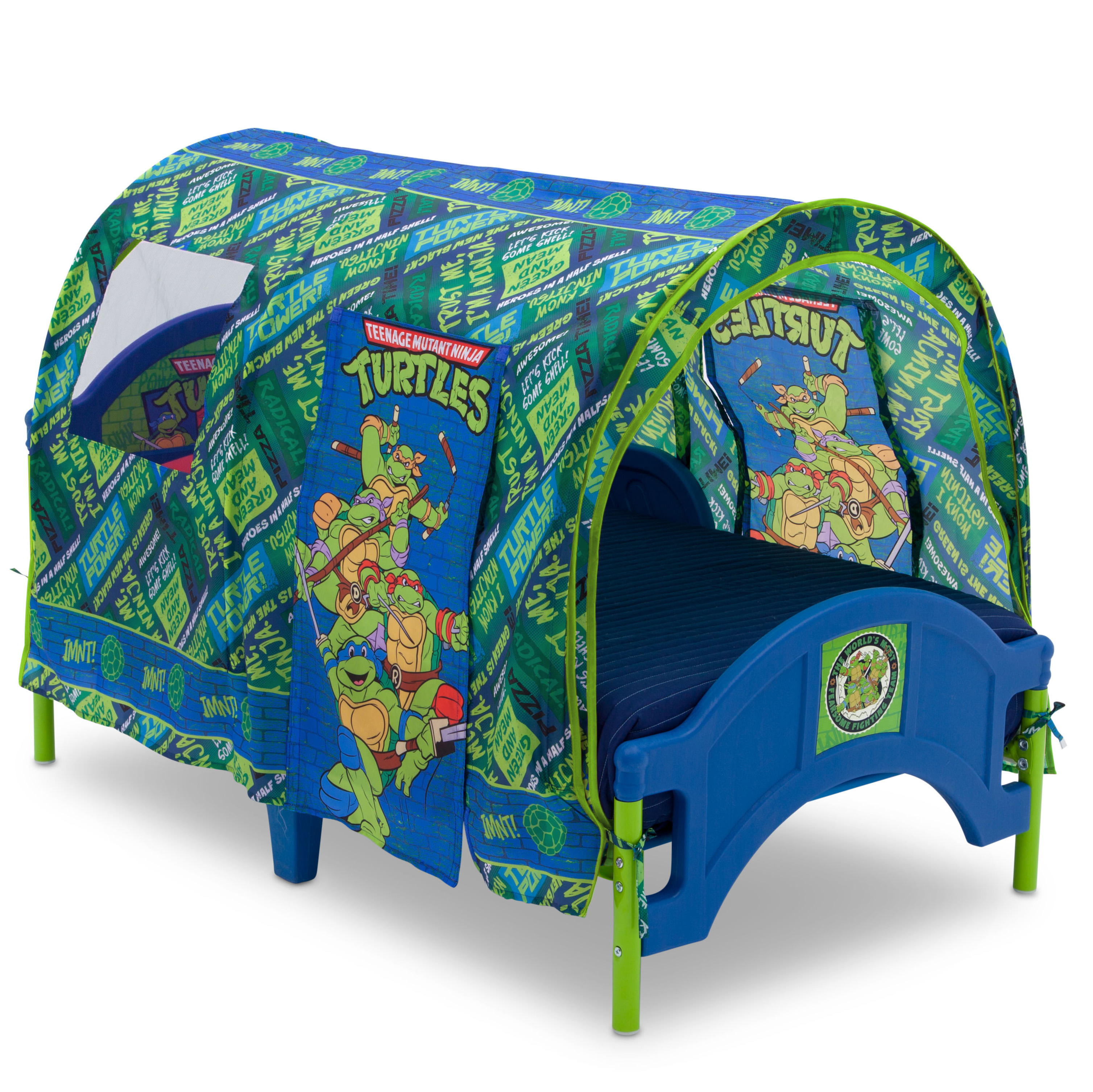 Teenage Mutant Ninja Turtles Plastic Toddler Bed with Tent by Delta Children