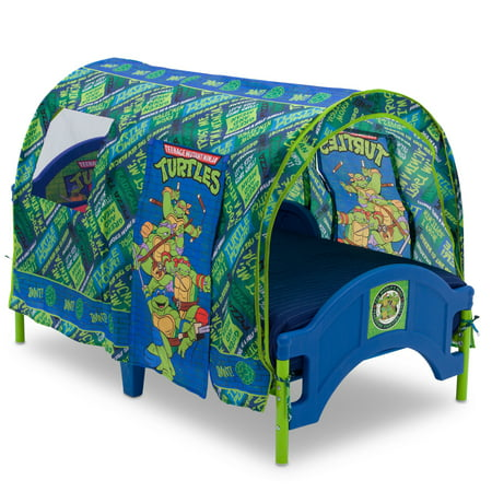 cheaper 7630f 1f6a6 Delta Children Teenage Mutant Ninja Turtles (TMNT) Plastic Toddler Bed