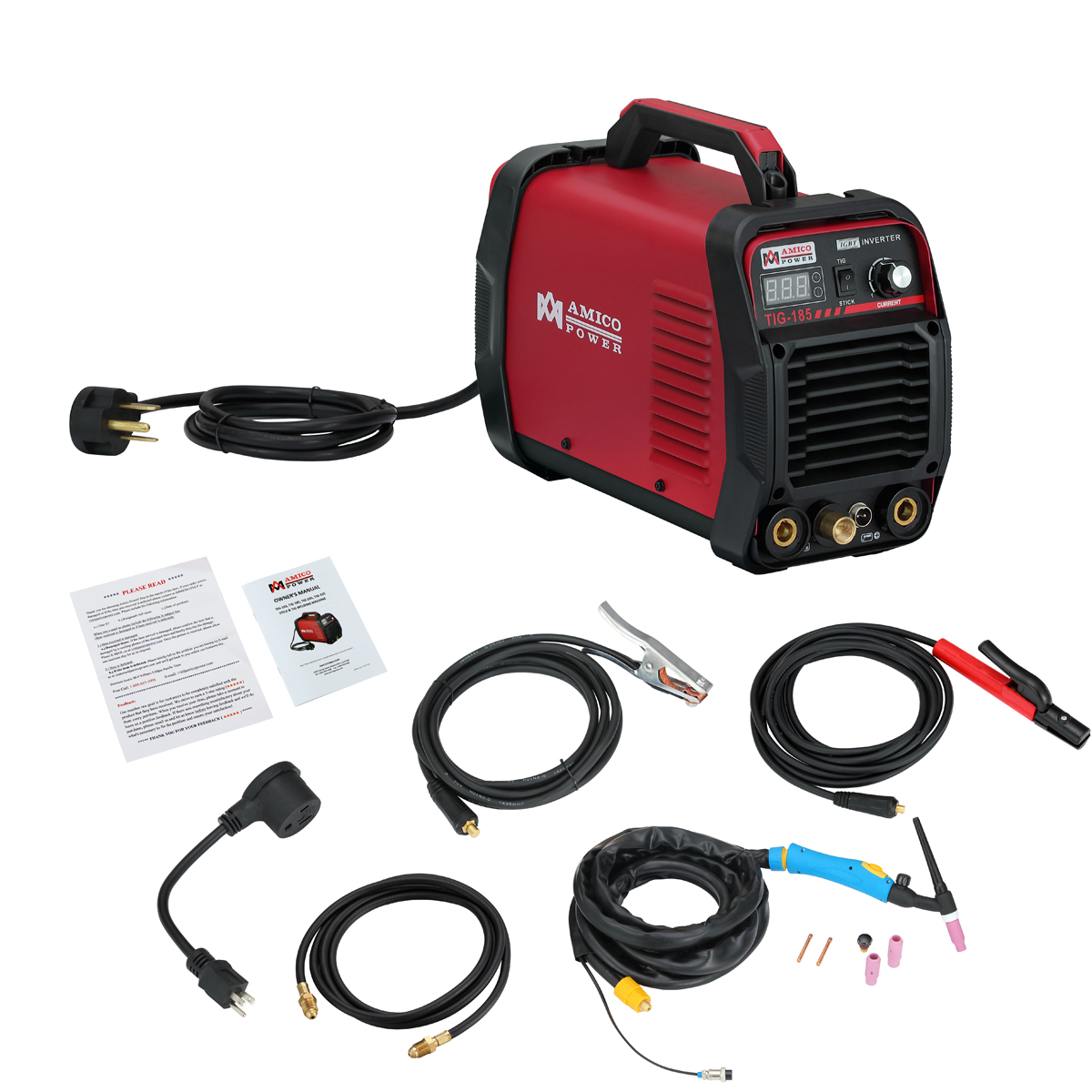 Amico TIG-185 180 Amp HF-TIG Torch Stick Arc Welder 115 & 230V Dual Voltage Welding by Amico Power Corp.