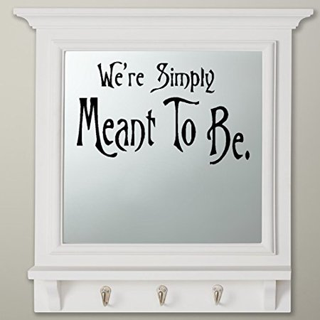We're Simply Meant to Be #1: Nightmare before Christmas Theme ~ Wall or Window Decal (Black) - Halloween Nightmare Before Christmas Wallpaper