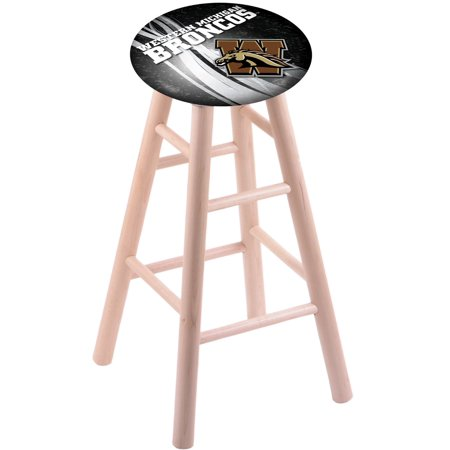 Amish Maple Bar Stool - Maple Bar Stool in Natural Finish with Western Michigan Seat by the Holland Bar Stool Co.