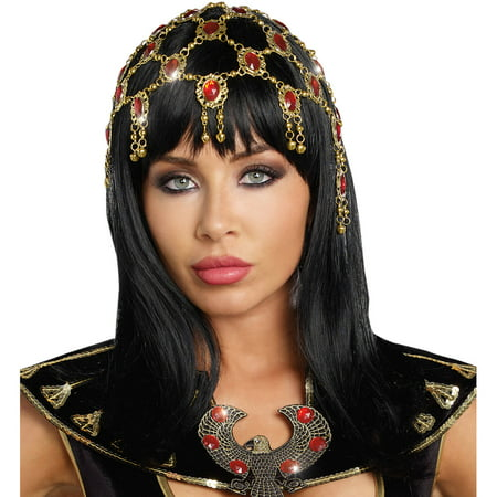 Gold Ruby Dazzling Headpiece Adult Halloween Accessory - D Is For Dazzle Halloween