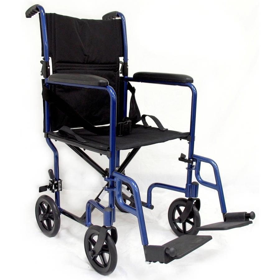 Karman LT-2019 19 pounds Aluminum Lightweight Transport Chair,  Blue