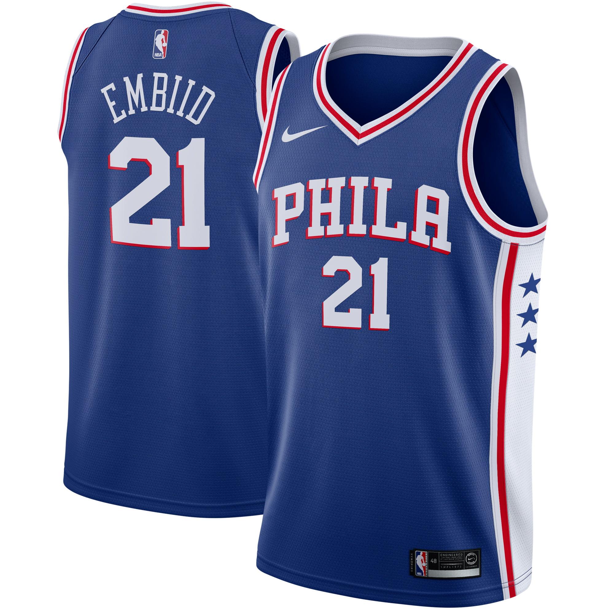Joel Embiid Philadelphia 76ers Nike Swingman Jersey Blue - Icon Edition