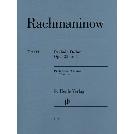 G. Henle Verlag Prelude in D Major Op. 23 No. 4 Henle Music Softcover by Rachmaninoff Edited by Dominik (Rachmaninoff Op 23 No 5 Sheet Music)