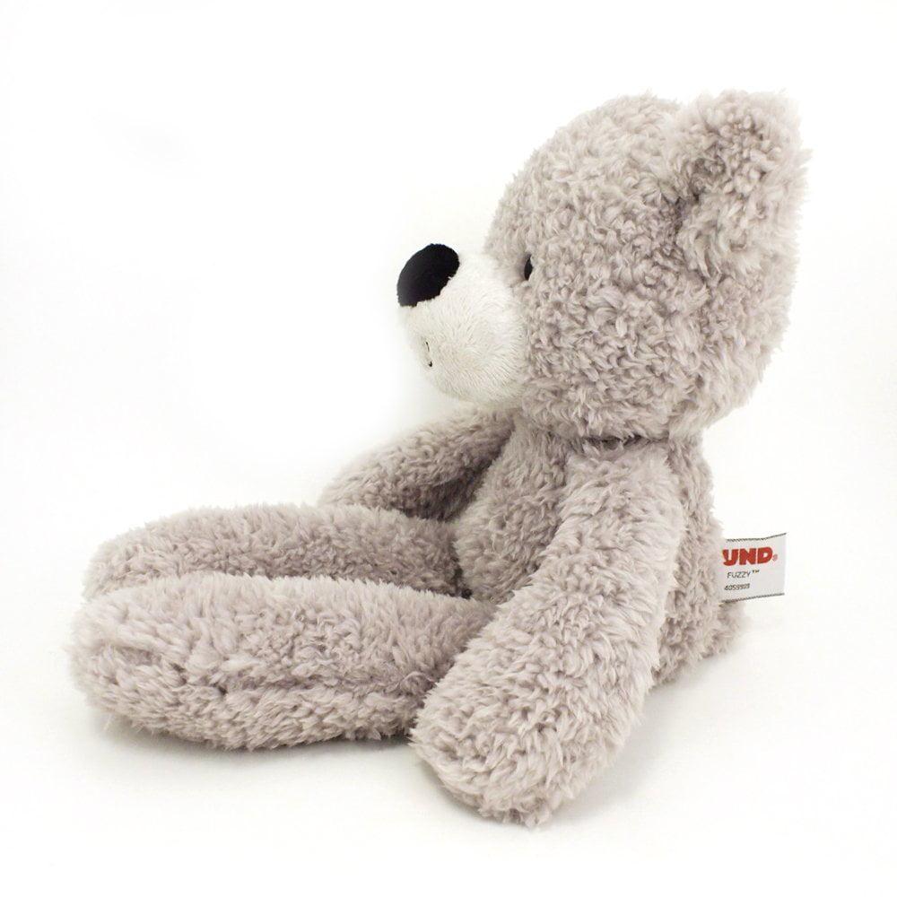 Gray 13.5 GUND Fuzzy Teddy Bear Stuffed Animal Plush