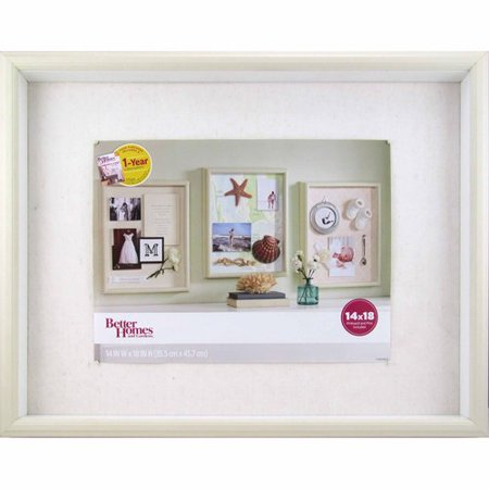 Better Homes and Gardens 14x18 Keepsake Shadowbox Frame, Soft White ...