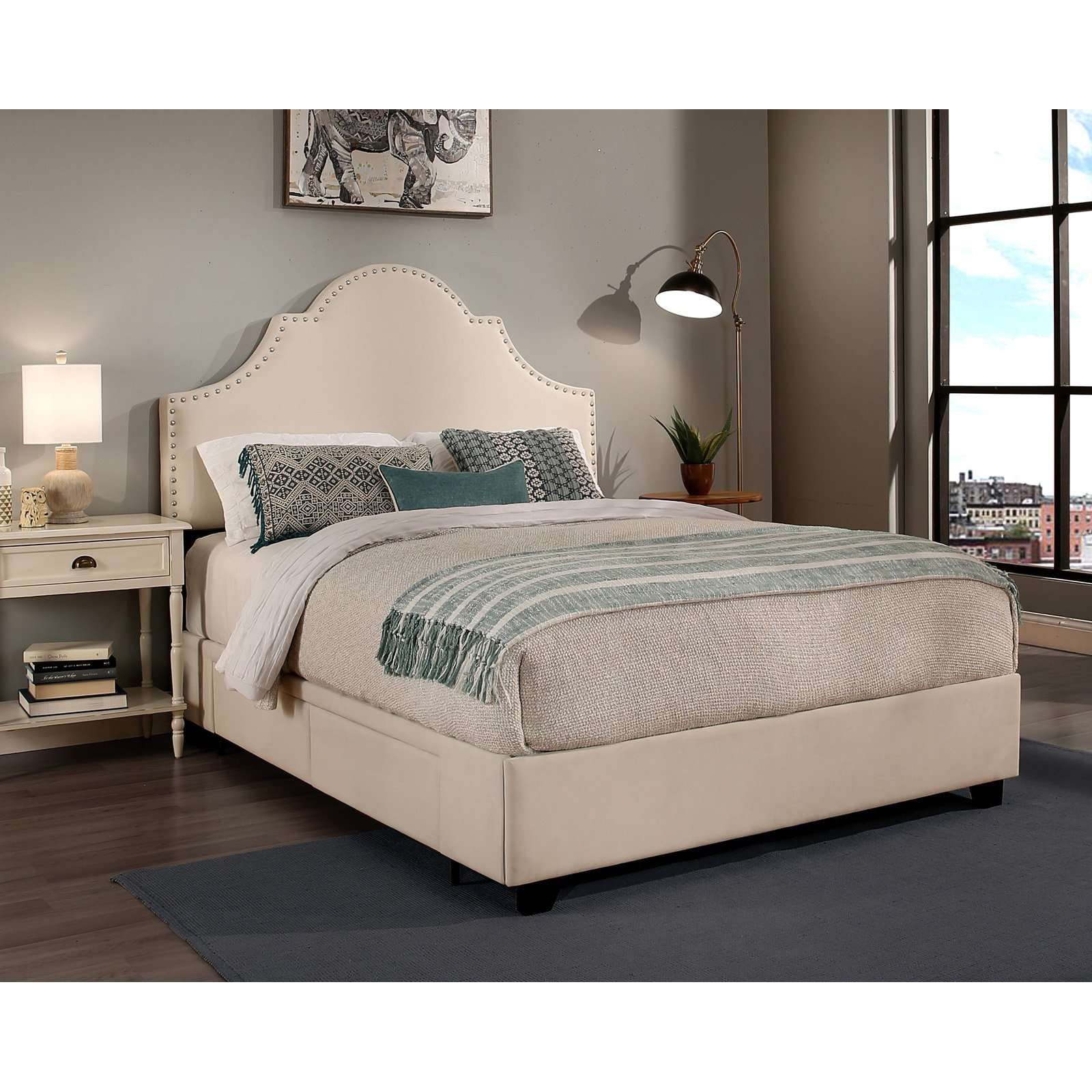 Republic Design House Portman Upholstered Platform Storage Bed