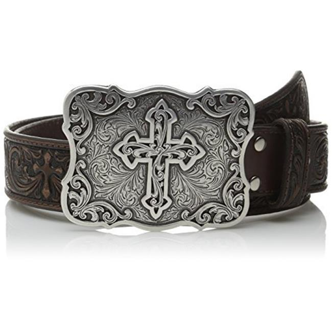 Nocona N3483802 Womens Embossed Leather Cross Buckle Belt  M Choose SZ//Color.