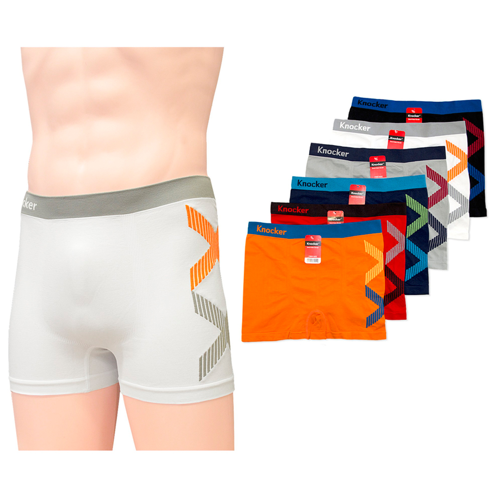 12 Mens Boxer Briefs Seamless Shorts Athletic Underwear Knocker Spandex One Size