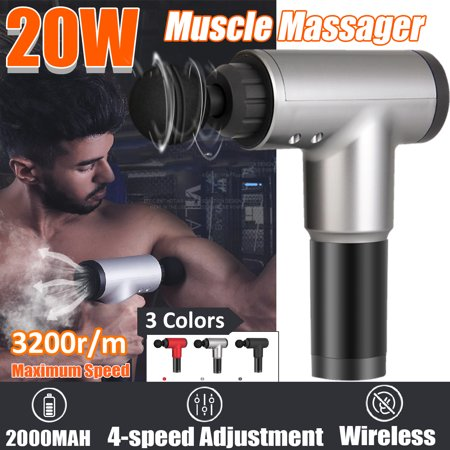4 Speeds Electronic Therapy Body Massage for Gun Percussion Muscle Vibrating Relax Machine With 4 Head