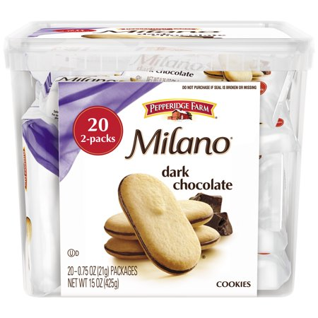 Pepperidge Farm  Milano  Dark Chocolate Cookies 20 0 75 Oz  Packs