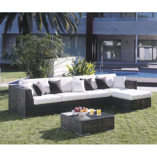 Hospitality Rattan Soho 6 Piece Deep Seating Group with Cushions