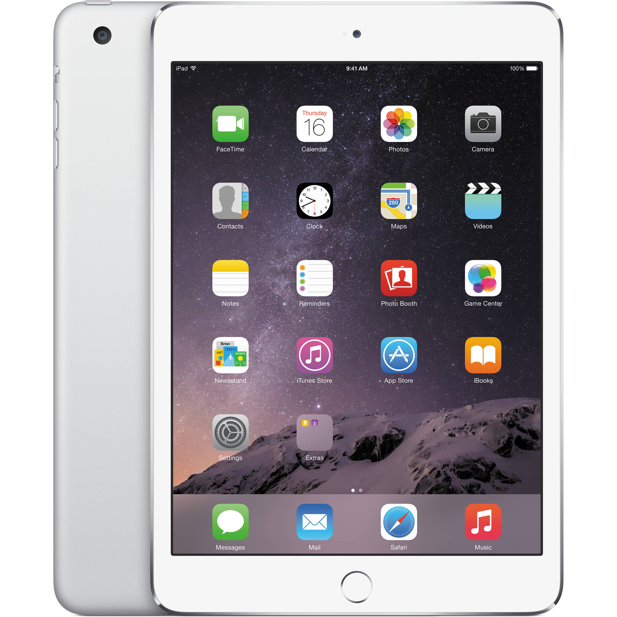 Apple iPad mini 3, 7.9-Inch Retina Display 16GB, Wi-Fi, Silver - MGNV2LL/A (Manufacturer Refurbished)