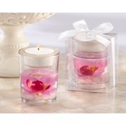 Kate Aspen Elegant Orchid Tea Light Holder - Set of 6 - Hostess Gift, Guest Gift, Party Souvenir, Party Favor or Decorations for Weddings, Bridal Showers, Baby Showers & More