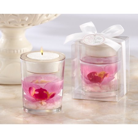 Kate Aspen Elegant Orchid Tea Light Holder - Set of 6 - Hostess Gift, Guest Gift, Party Souvenir, Party Favor or Decorations for Weddings, Bridal Showers, Baby Showers & More (Wedding Guest Gift)