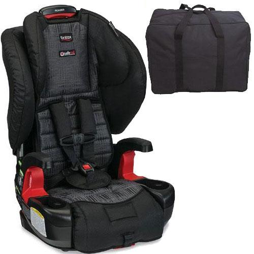 Britax  -  Pioneer G1 1 Harness - 2 - Booster Car Seat with Travel Bag  -  Domino