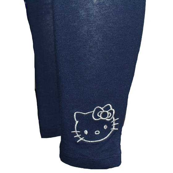 bd728f3d4 Hello Kitty - Girls Hello Kitty Embroidered Leggings Navy Blue (XL14 ...