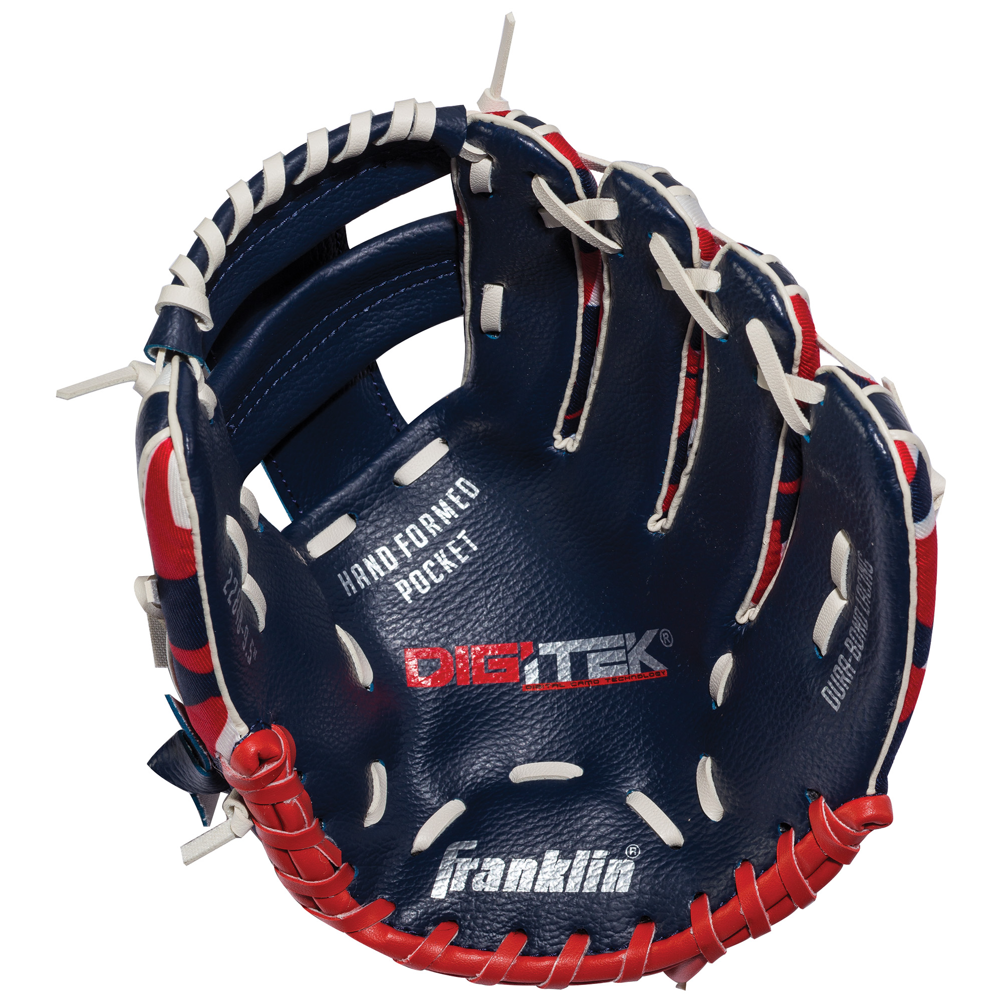 """Franklin Sports 10"""" RTP Performance Digi Teeball Glove Navy Red Right Handed Thrower by Franklin Sports"""