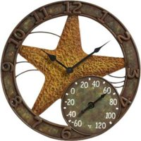 """Taylor 14"""" Starfish Clock with Thermometer"""