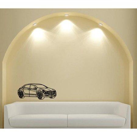 Vsgraphics Llc Luxury Sedan Car Wall Art Vinyl Decal Sticker
