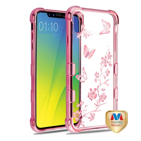 TUFF Klarity Electroplating Transparent Anti-Shock TPU Case for iPhone XS  Max - Butterflies in Spring