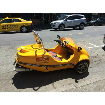 Canvas Print Tourist Rental Go-car San Francisco Stretched Canvas 32 x 24](Cheap Rental Cars Okc)