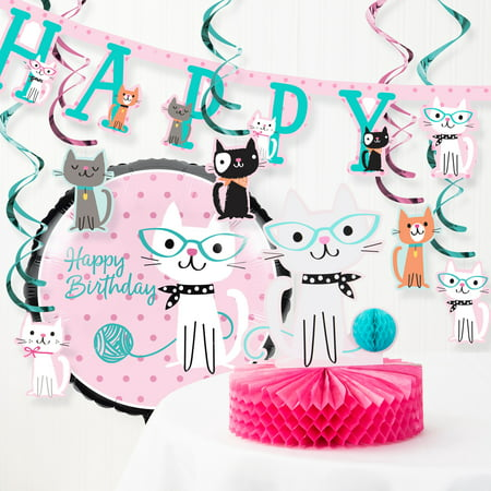 Purr-fect Cat Birthday Party Decorations Kit](Cat In The Hat Birthday Decorations)