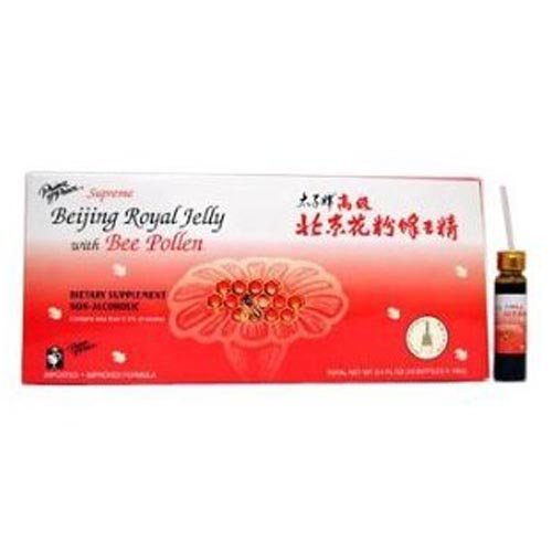 Prince Of Peace Supreme Beijing Royal Jelly With Bee Pollen Bottles 10.2 Oz - 30 Ea
