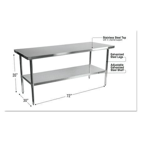 Alera NSF Stainless Steel Commercial Kitchen Prep & Work ...