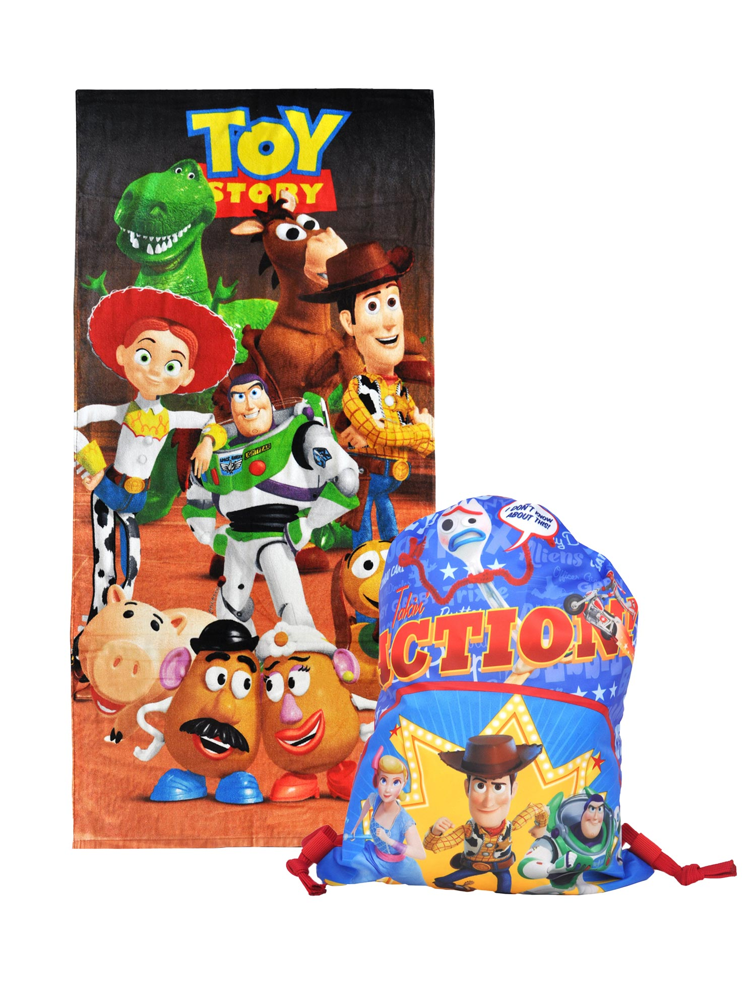 Toy Story Cast 28 X 58 Beach Towel Brown
