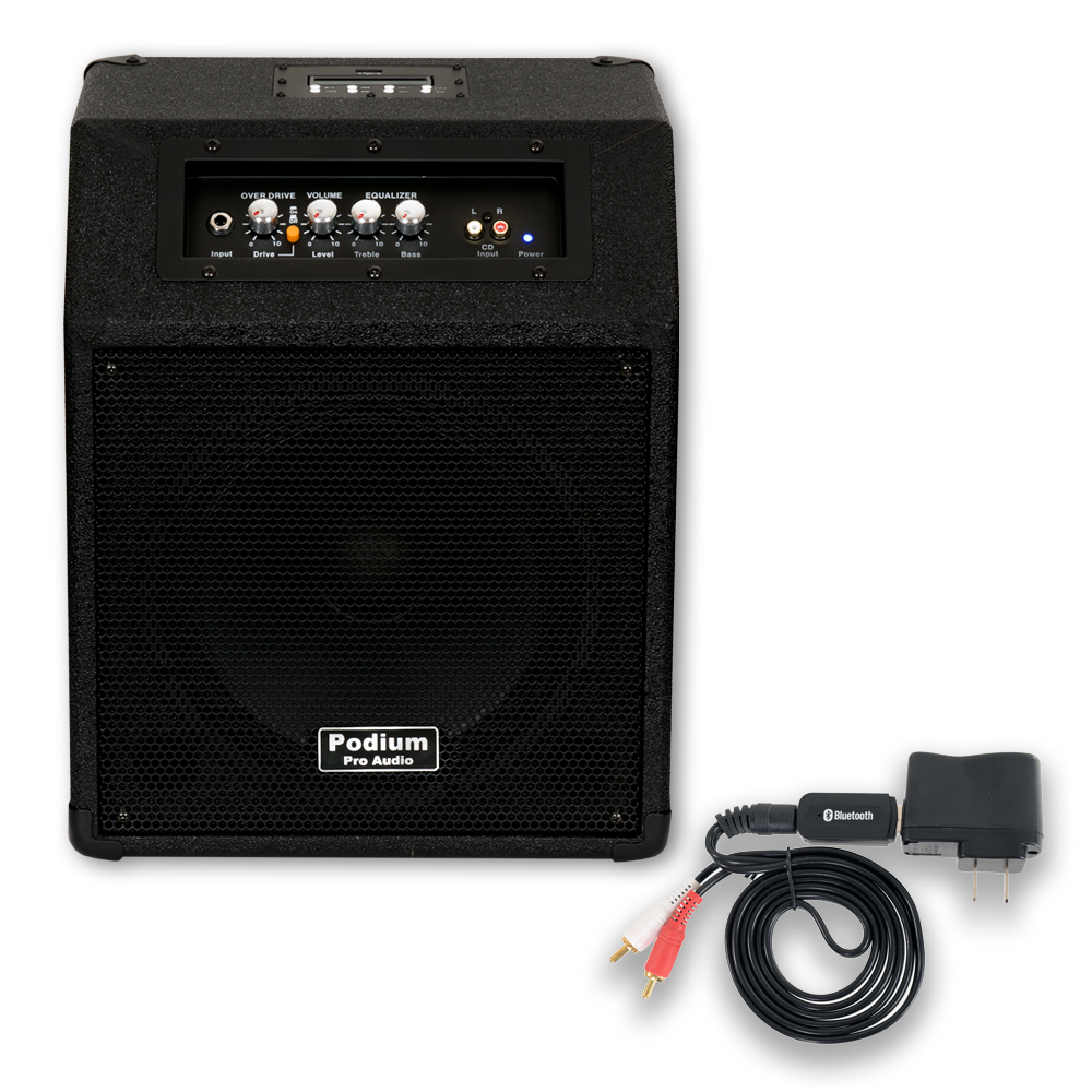 "Podium Pro HA10 Powered 10"" Guitar Amp Speaker with MP3 Player Plus Bluetooth HA10B"
