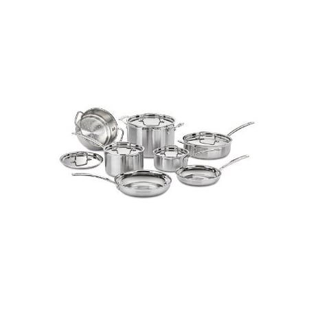 Premium Superior Quality Cuisinart MCP-12N MultiClad Pro Stainless Steel 12-Piece Cookware - Superior Quality Kitchenware