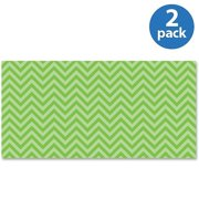 Fadeless Chic Chevron Design Bulletin Board Papers, Single Roll, Lime