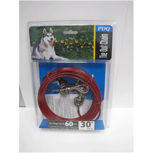 Tie-Out,Pdq Cable 60lb Dog 30'