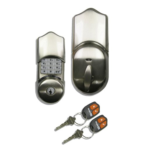 SimpliciKey, LLC Single Cylinder Keyless Electronic Deadbolt with Remote