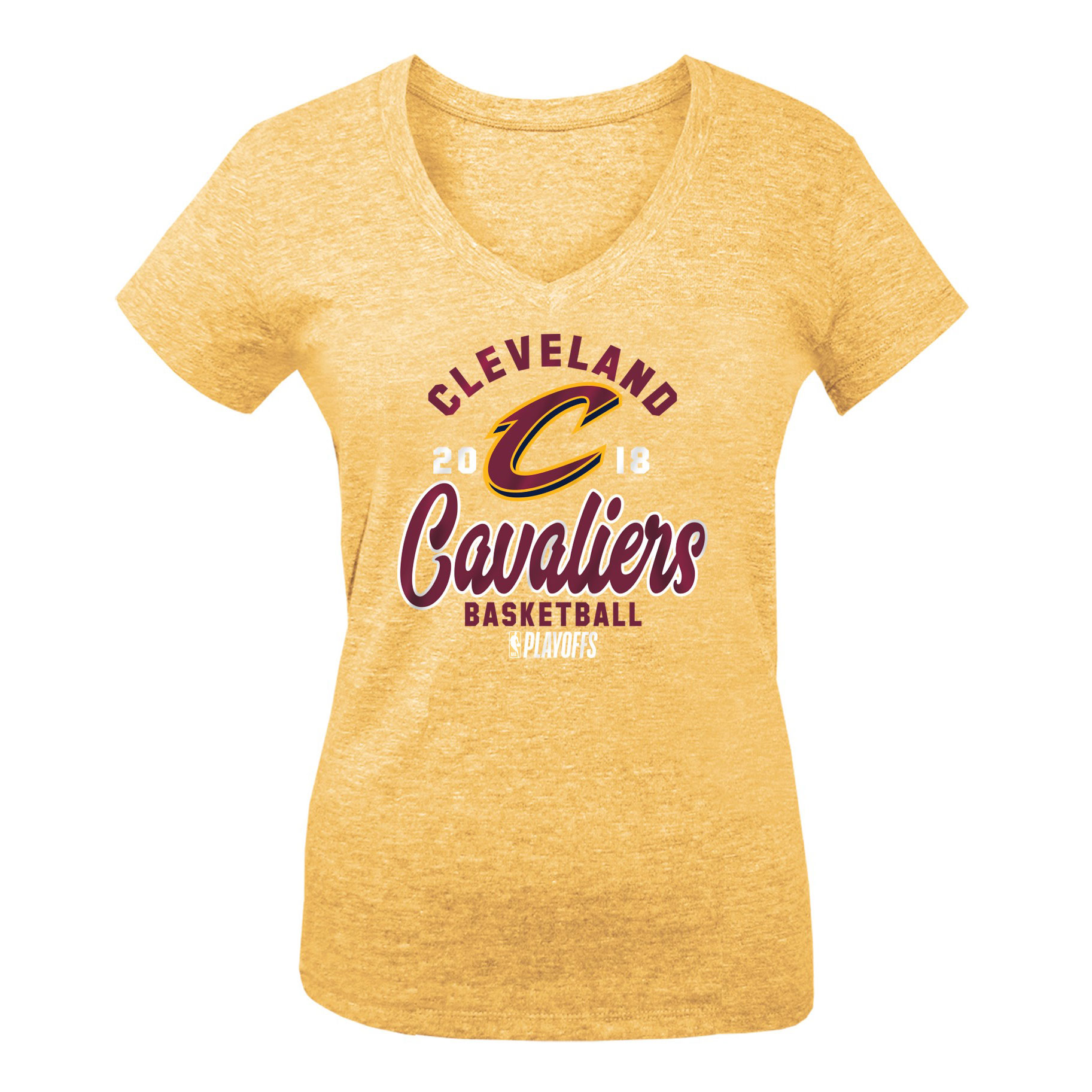 Cleveland Cavaliers New Era Girls Youth 2018 NBA Playoffs Baby Jersey V-Neck T-Shirt - Gold